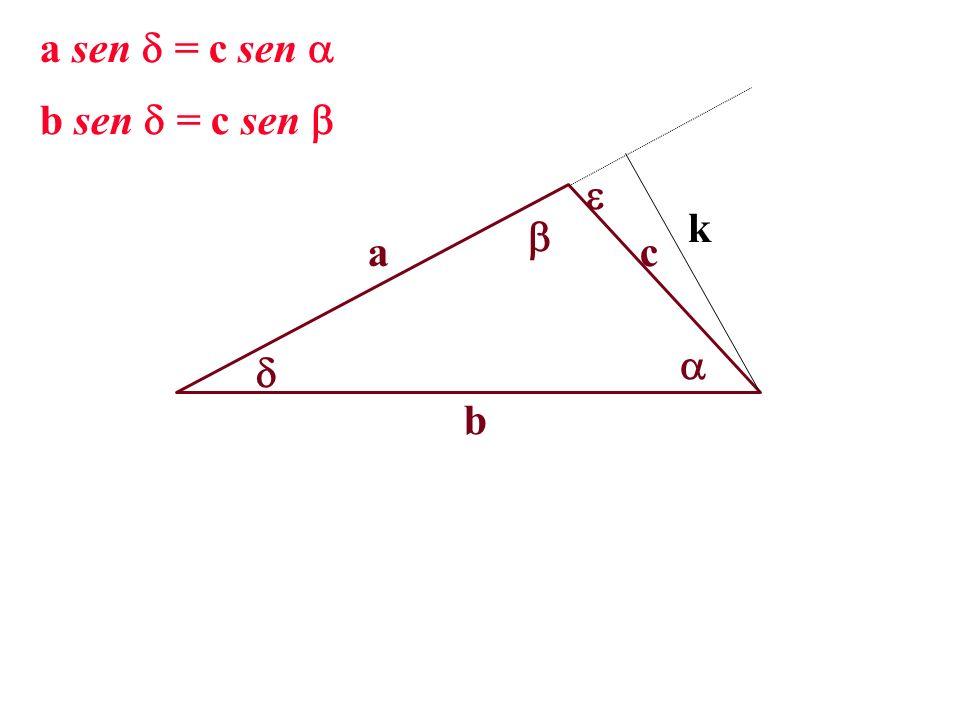 a b c k a sen = c sen b sen = c sen