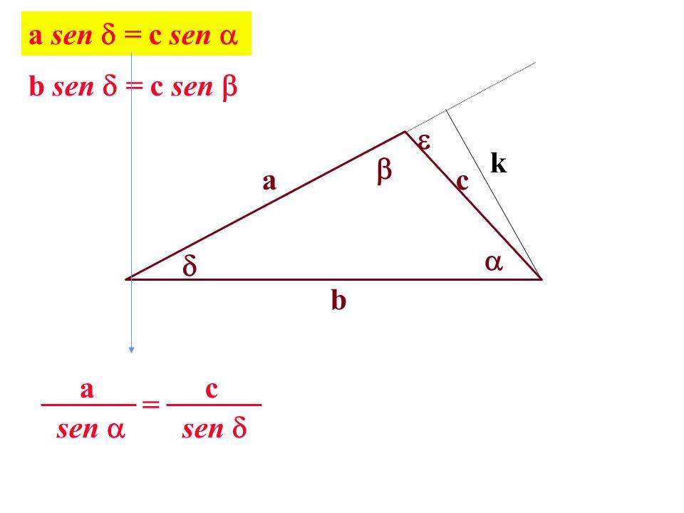 a b c k a sen = c sen b sen = c sen sen c = a