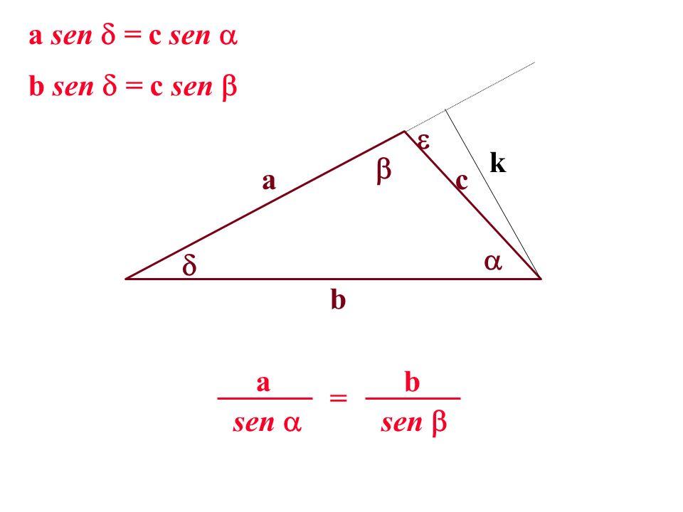 a b c k a sen = c sen b sen = c sen sen a = b