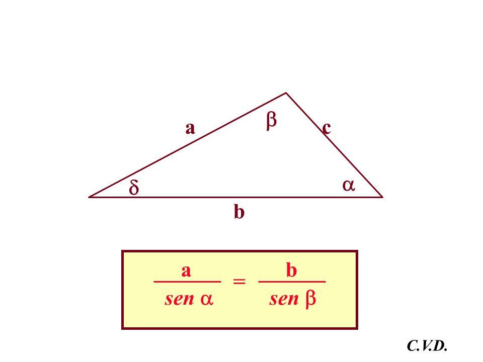 a b c sen a = b C.V.D.