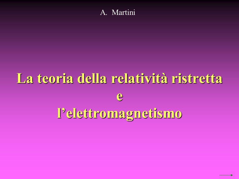 La teoria della relatività ristretta elelettromagnetismo A. Martini