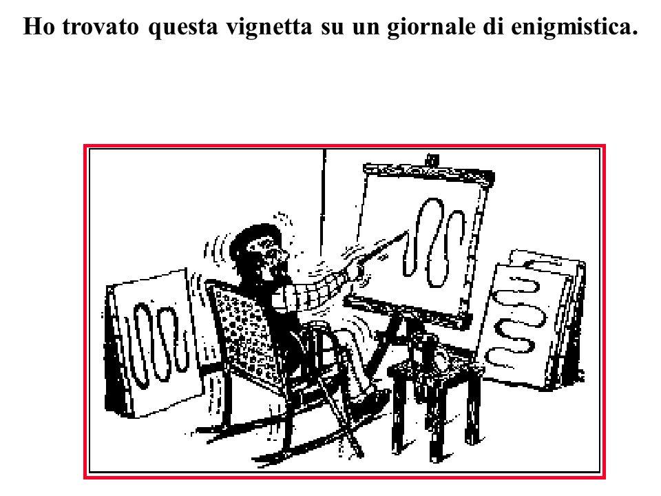 Ho trovato questa vignetta su un giornale di enigmistica.