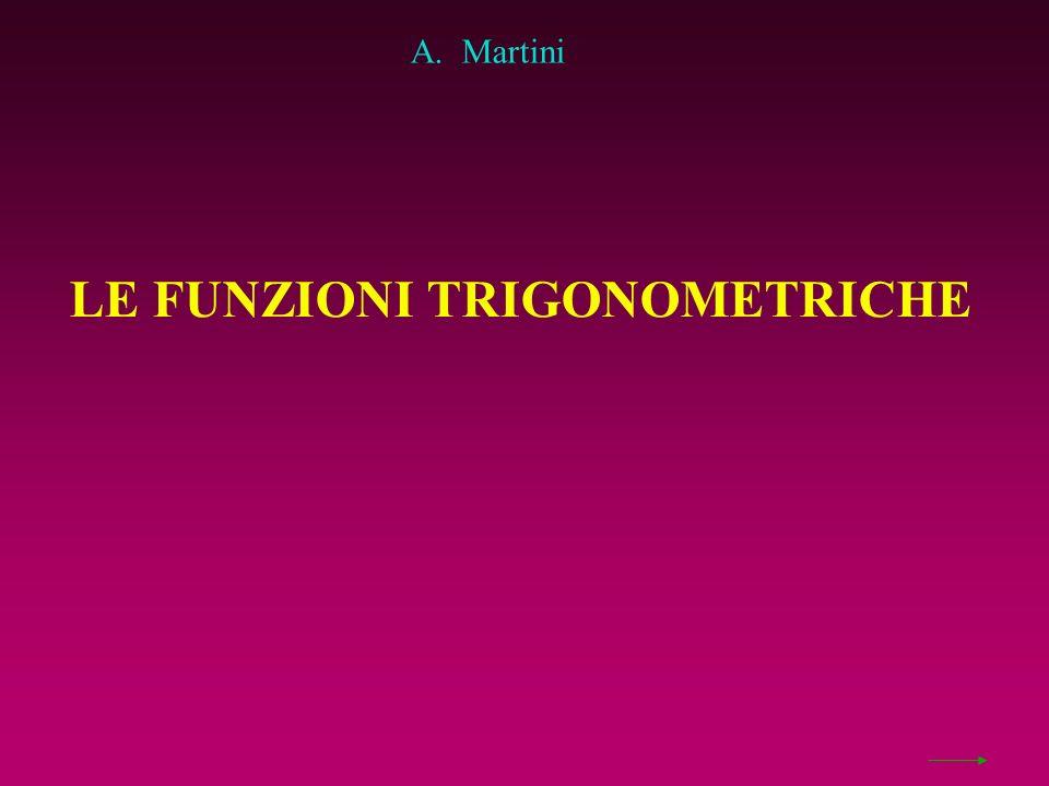 LE FUNZIONI TRIGONOMETRICHE A. Martini