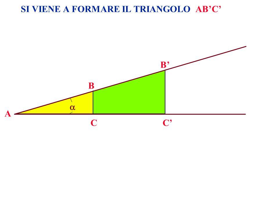 A B CC B SI VIENE A FORMARE IL TRIANGOLO ABC