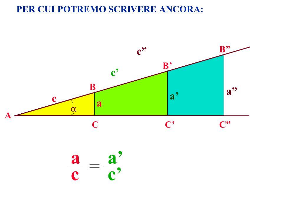 PER CUI POTREMO SCRIVERE ANCORA: A B CC B a c c a a c a c = c C B a