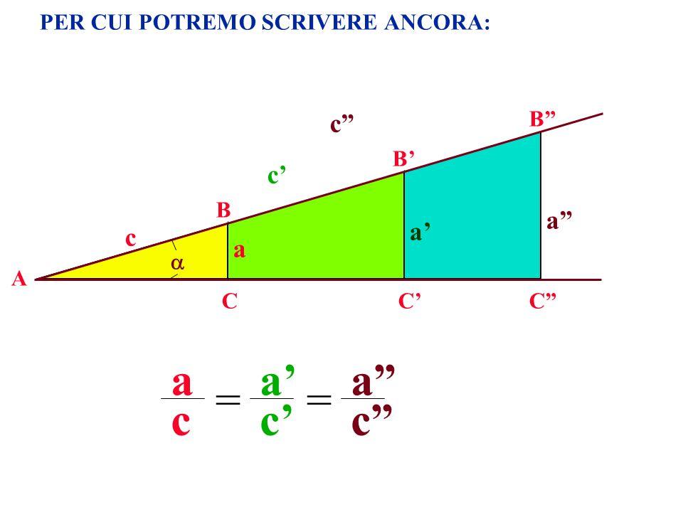 PER CUI POTREMO SCRIVERE ANCORA: A B CC B a c c a a c a c = c C B a c = a