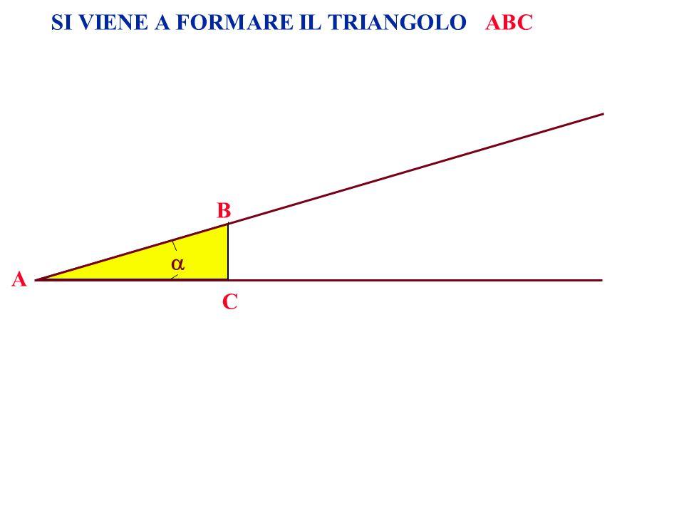 SI VIENE A FORMARE IL TRIANGOLO ABC A B C