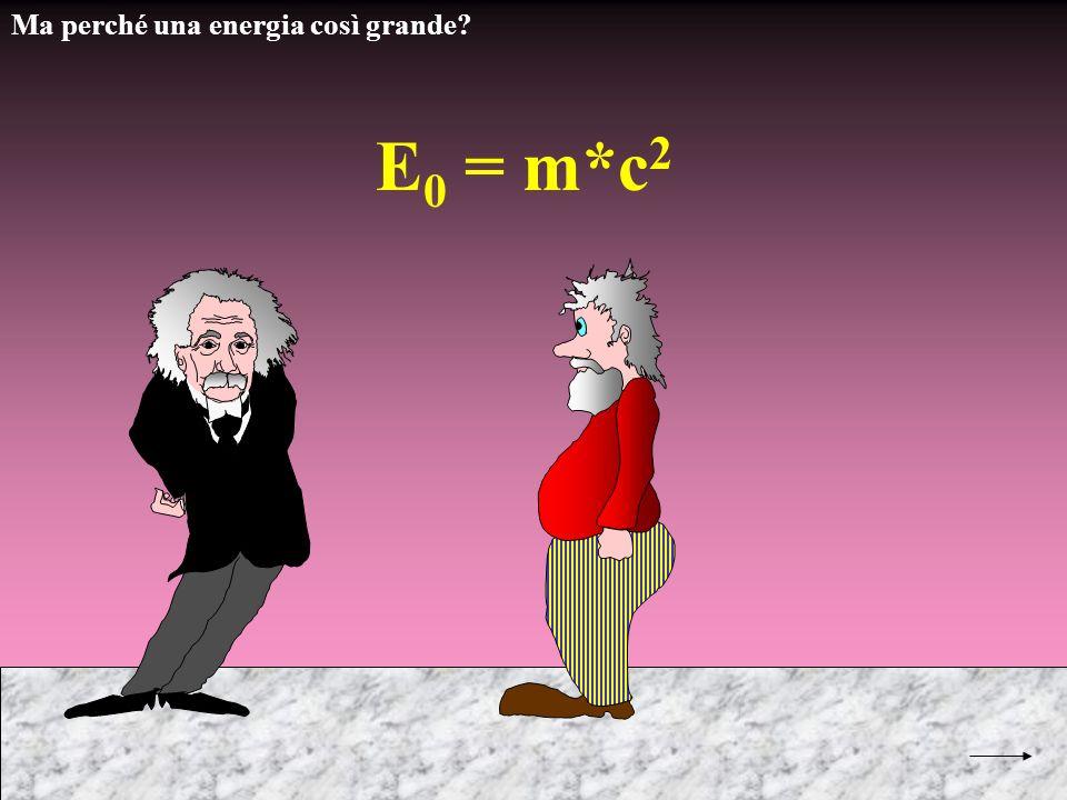 Ma perché una energia così grande? E 0 = m*c 2