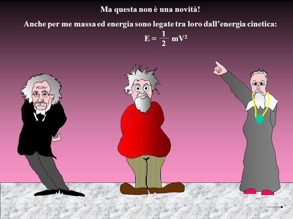 Ma questa non è una novità! Anche per me massa ed energia sono legate tra loro dallenergia cinetica: E = mV 2 1 2
