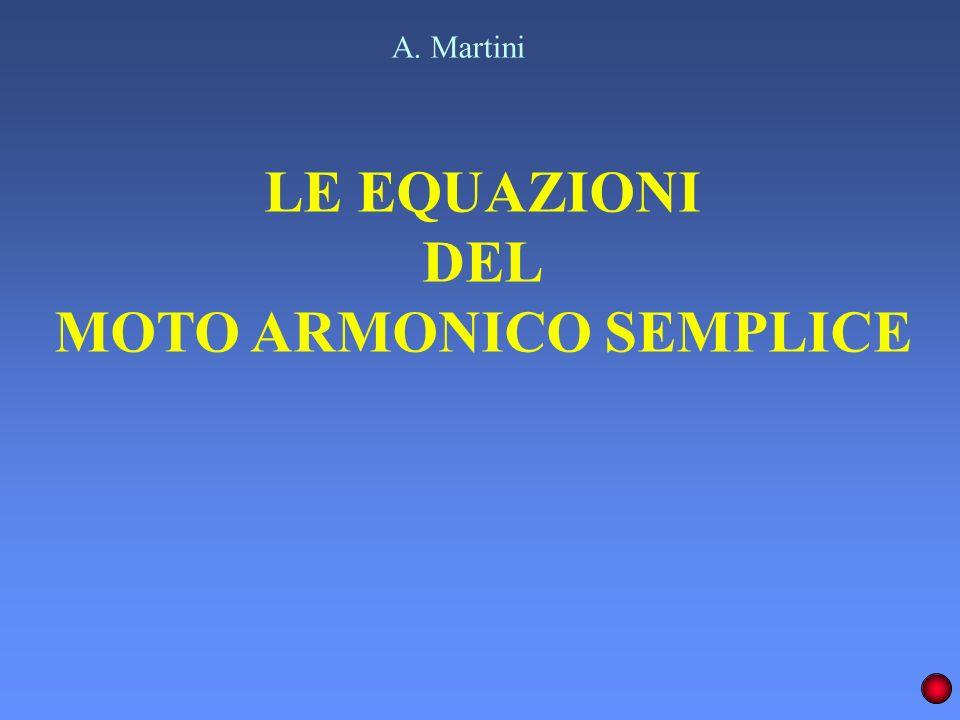 LE EQUAZIONI DEL MOTO ARMONICO SEMPLICE A. Martini