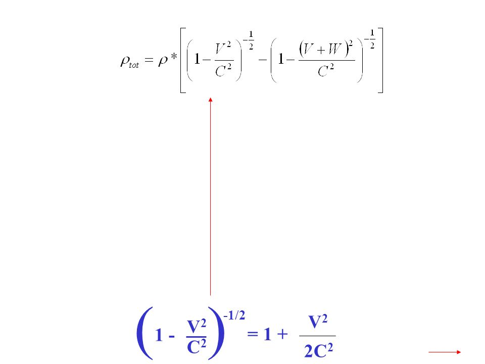 V2V2 C2C2 1 - () -1/2 = 1 + V2V2 2C 2