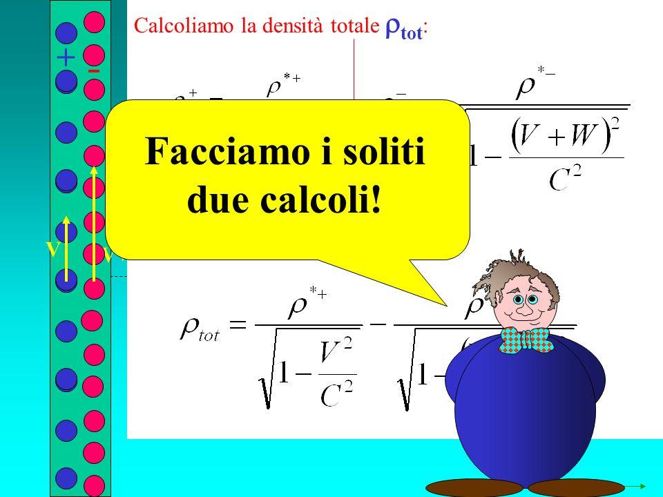 q r V+W Calcoliamo la densità totale tot : + V Facciamo i soliti due calcoli!