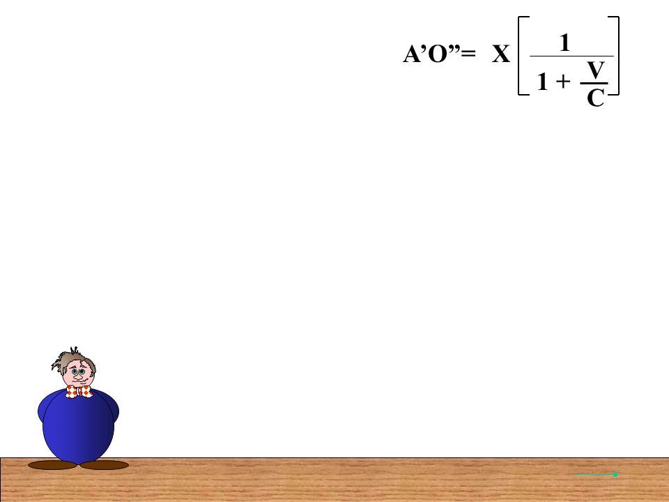 AO=X C V 1 + 1