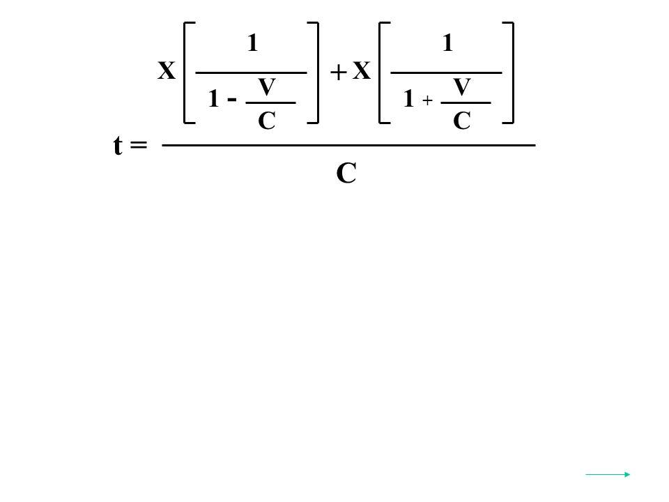 t = C X 1 V C 1 - X 1 V C 1 + +
