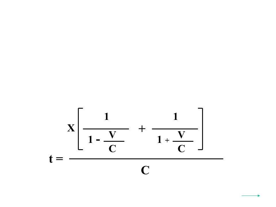 t = C X 1 V C 1 - 1 V C 1 + +