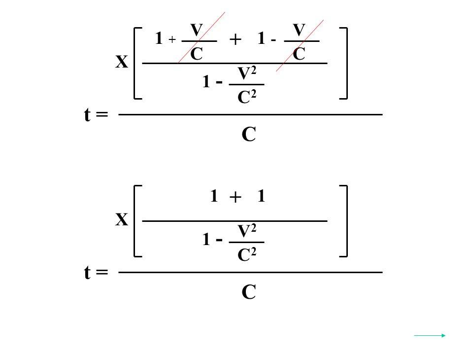 t = C X V2V2 C2C2 1 - 1 + 1 t = C X V2V2 C2C2 1 - V C 1 + + V C 1 -