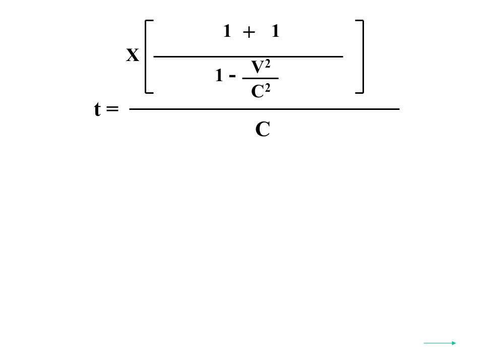 t = C X V2V2 C2C2 1 - 1 + 1
