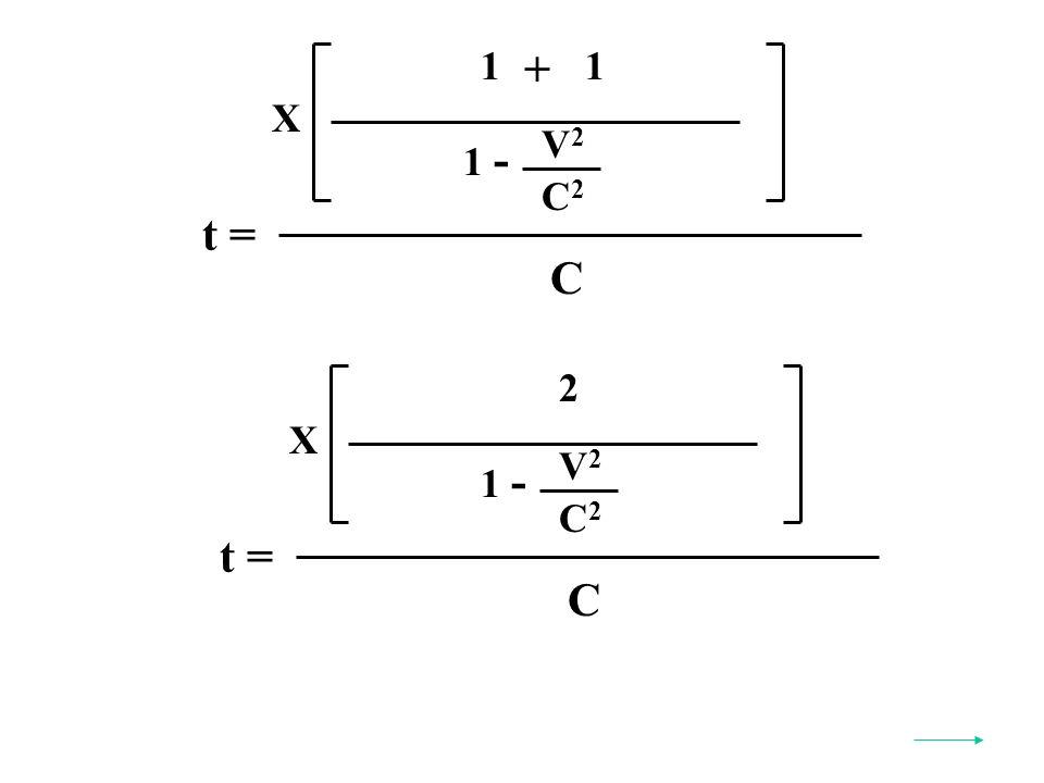 t = C X V2V2 C2C2 1 - 1 + 1 t = C X V2V2 C2C2 1 - 2