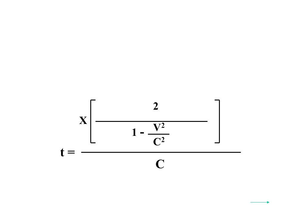 t = C X V2V2 C2C2 1 - 2