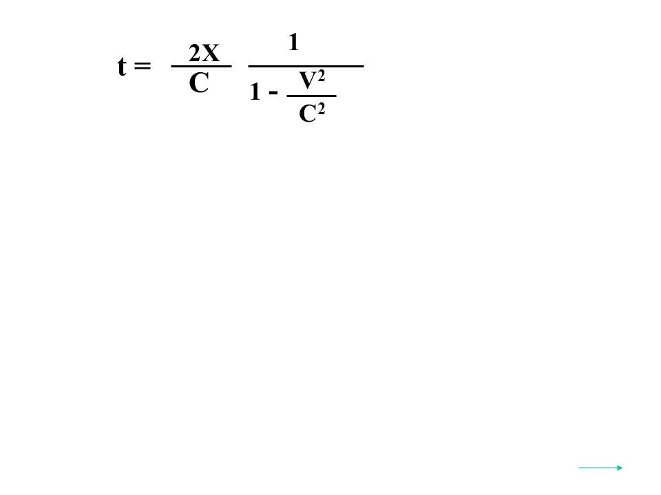 t = V2V2 C2C2 1 - C 2X 1