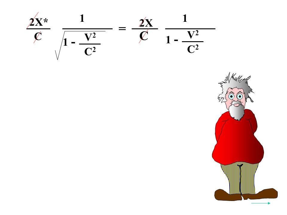 = V2V2 C2C2 1 - C 2X 1 V2V2 C2C2 1 - 1 2X* C