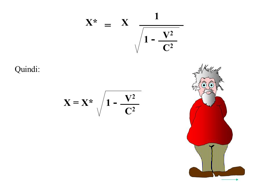 Quindi: X = X* V2V2 C2C2 1 - = 2X*2X 1 V2V2 C2C2 1 -