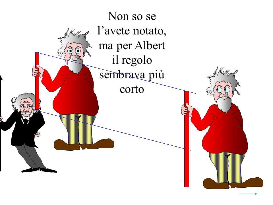 Non so se lavete notato, ma per Albert il regolo sembrava più corto Quindi: