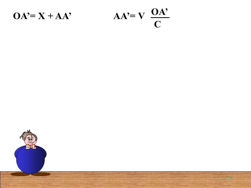 AA= VOA C OA= X + AA