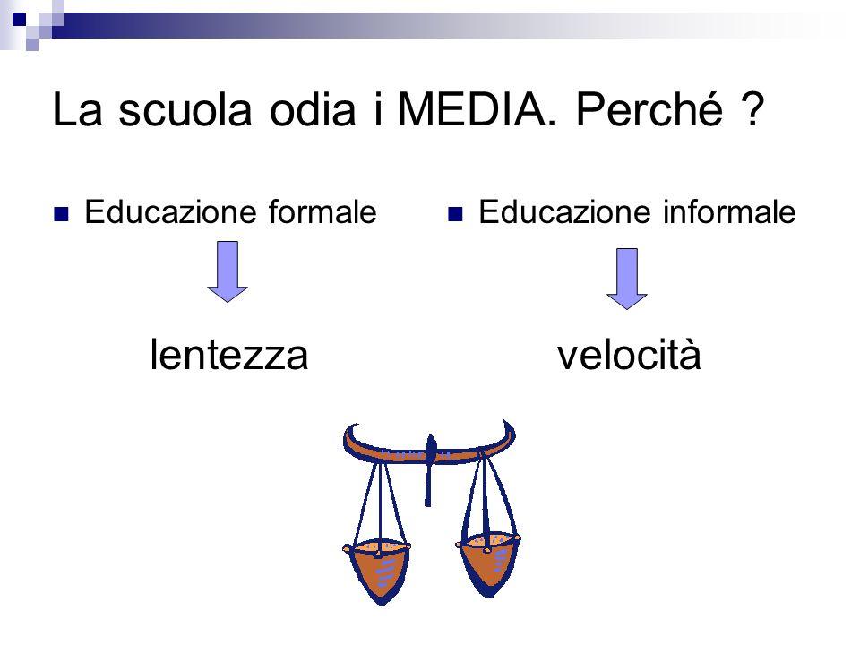 La scuola odia i MEDIA. Perché Educazione formale Educazione informale lentezzavelocità