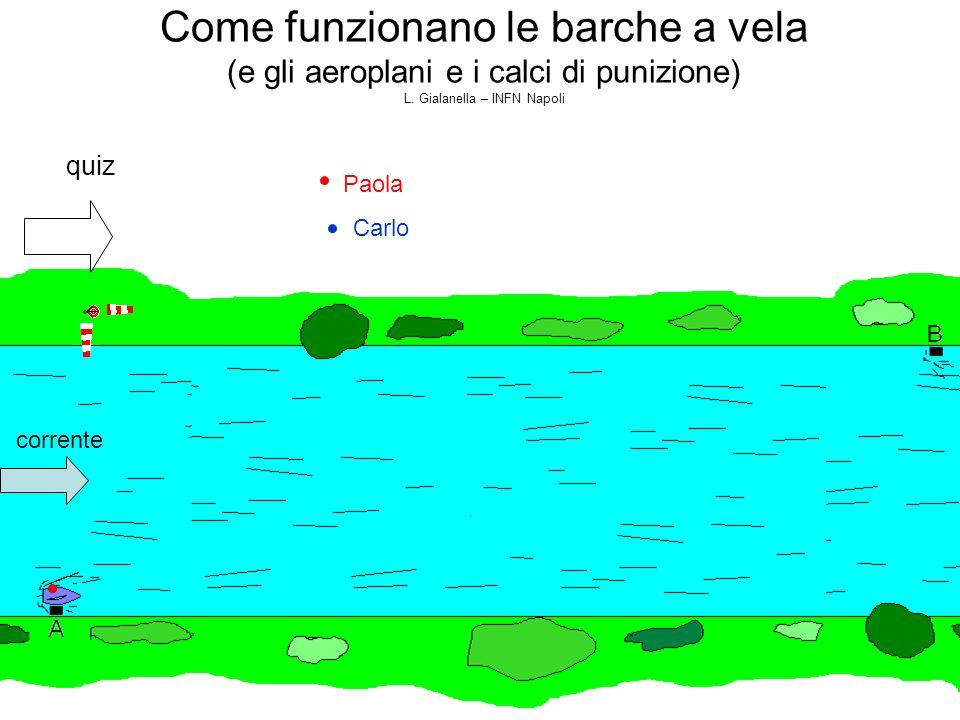 Carlo Come funzionano le barche a vela (e gli aeroplani e i calci di punizione) L. Gialanella – INFN Napoli quiz corrente Paola