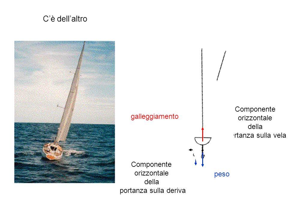 Cè dellaltro peso galleggiamento Componente orizzontale della portanza sulla deriva Componente orizzontale della portanza sulla vela