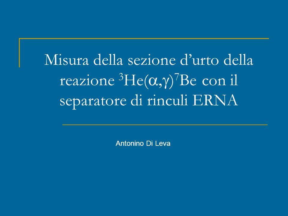 Misura della sezione durto della reazione 3 He( ) 7 Be con il separatore di rinculi ERNA Antonino Di Leva