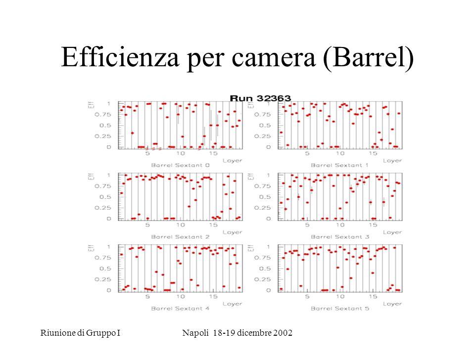Riunione di Gruppo INapoli 18-19 dicembre 2002 Efficienza per camera (Barrel)