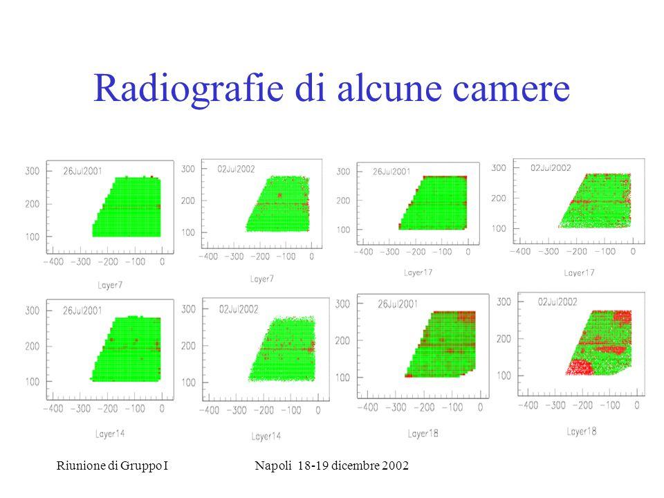 Riunione di Gruppo INapoli 18-19 dicembre 2002 Radiografie di alcune camere