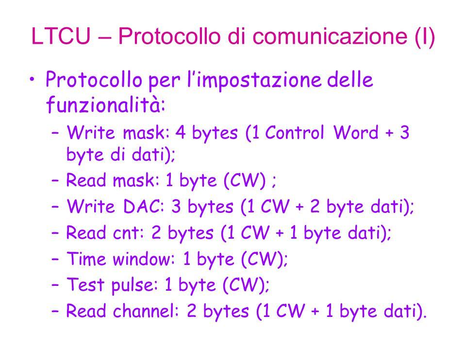 LTCU – Protocollo di comunicazione (II) WRITE_MK: maschera i canali dingresso.