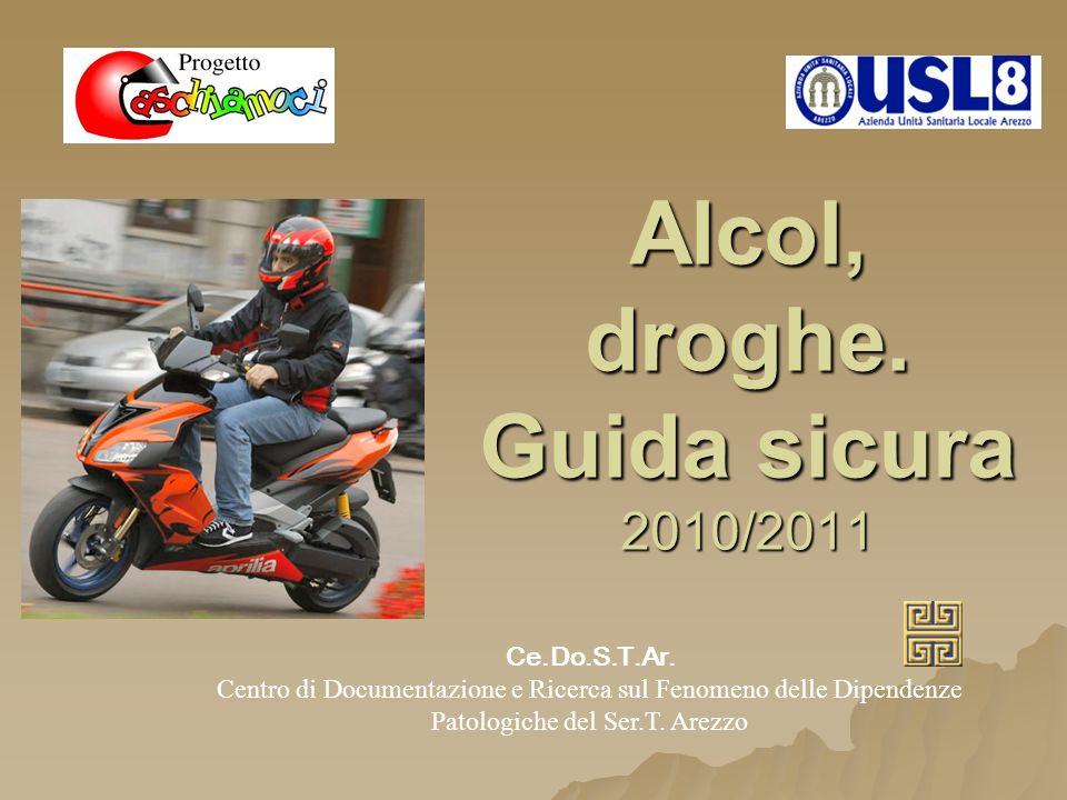 Alcol, droghe. Guida sicura 2010/2011 Ce.Do.S.T.Ar. Centro di Documentazione e Ricerca sul Fenomeno delle Dipendenze Patologiche del Ser.T. Arezzo