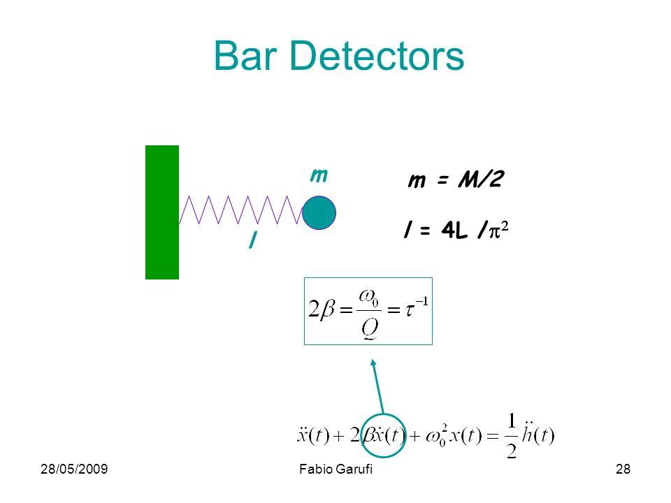 28/05/2009Fabio Garufi28 m = M/2 m l l = 4L / Bar Detectors