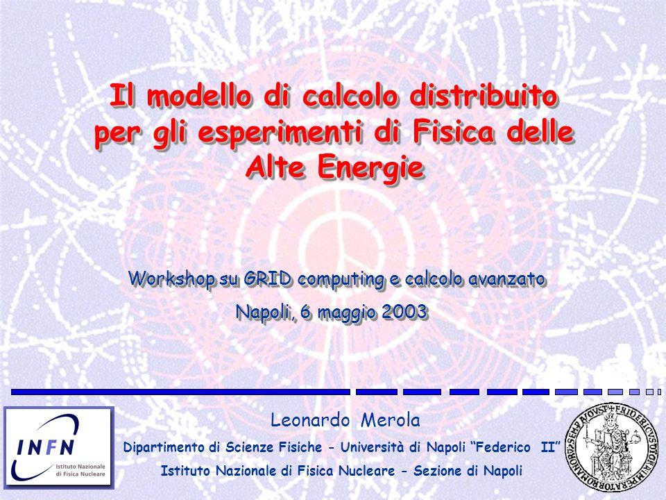 Il modello di calcolo distribuito per gli esperimenti di Fisica delle Alte Energie Leonardo Merola Dipartimento di Scienze Fisiche - Università di Nap