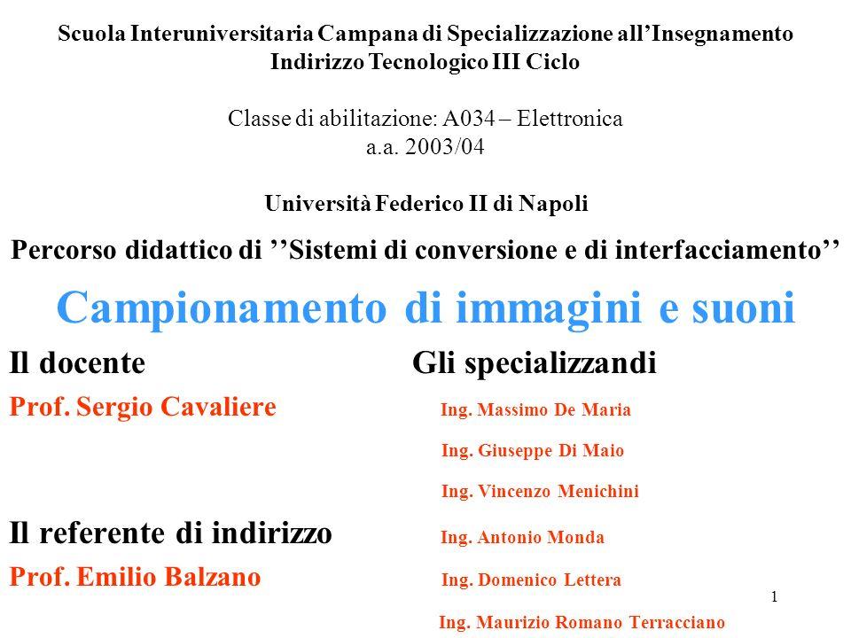 1 Scuola Interuniversitaria Campana di Specializzazione allInsegnamento Indirizzo Tecnologico III Ciclo Classe di abilitazione: A034 – Elettronica a.a.
