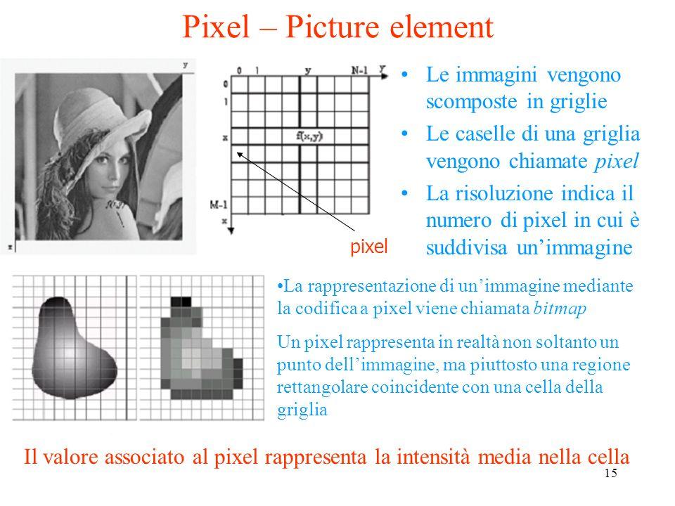 14 Le immagini a scale di grigio contengono sfumature ma non colori (solo bianco, nero e grigio). Una fotografia in bianco e nero è un'immagine a scal