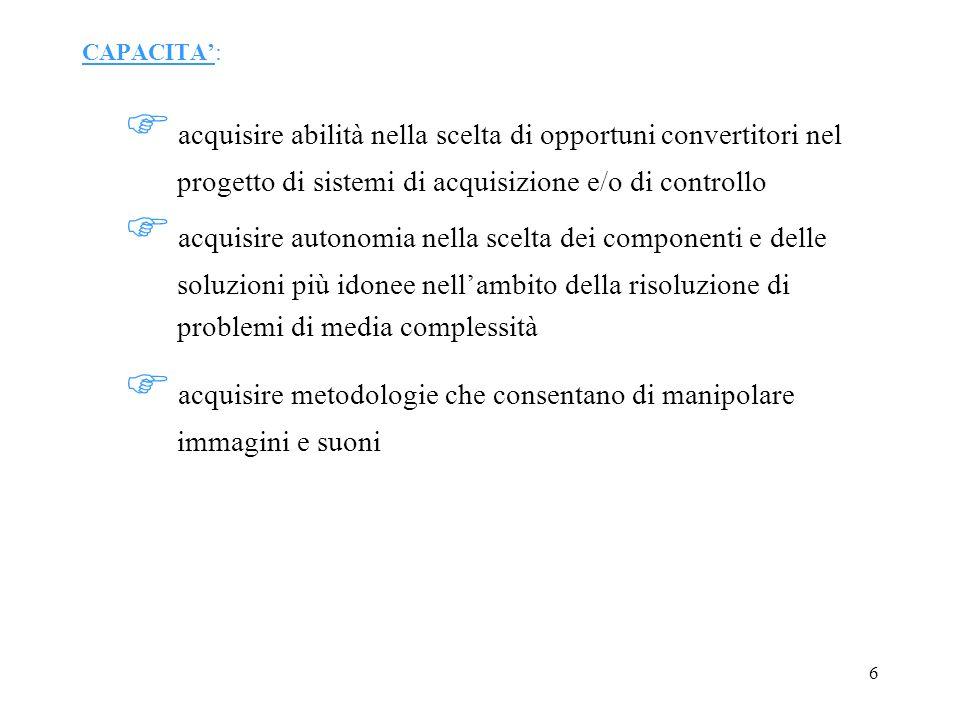 Conversione analogico /digitale- La qualità della conversione..