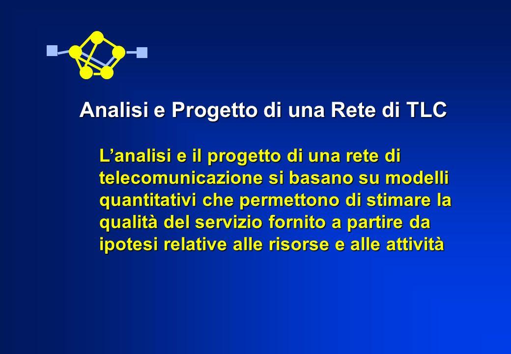 Lanalisi e il progetto di una rete di telecomunicazione si basano su modelli quantitativi che permettono di stimare la qualità del servizio fornito a
