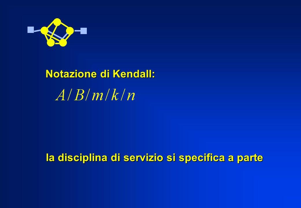 Notazione di Kendall: la disciplina di servizio si specifica a parte
