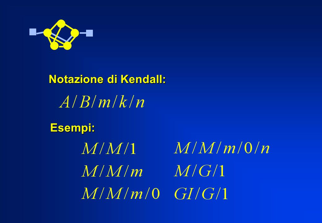 Notazione di Kendall: Esempi: