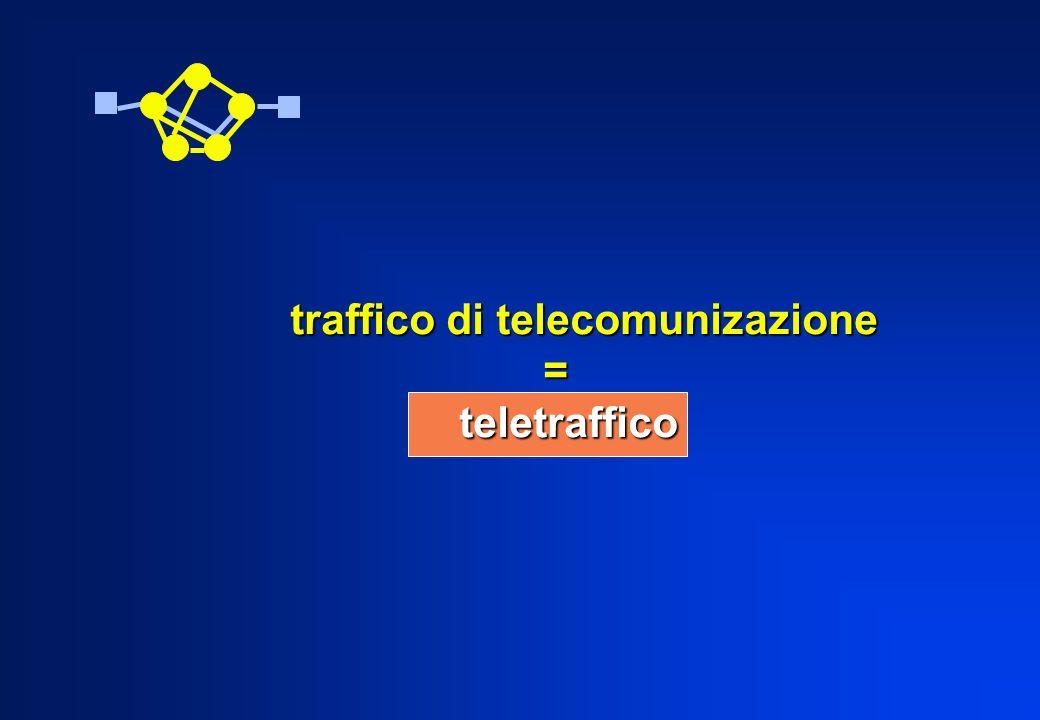 traffico di telecomunizazione traffico di telecomunizazione = = teletraffico teletraffico