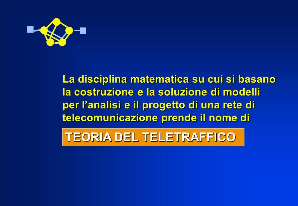 La disciplina matematica su cui si basano la costruzione e la soluzione di modelli per lanalisi e il progetto di una rete di telecomunicazione prende