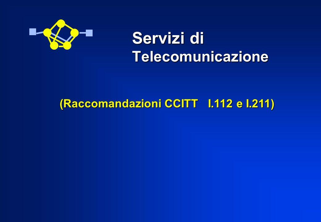(Raccomandazioni CCITT I.112 e I.211) (Raccomandazioni CCITT I.112 e I.211) Servizi di Telecomunicazione