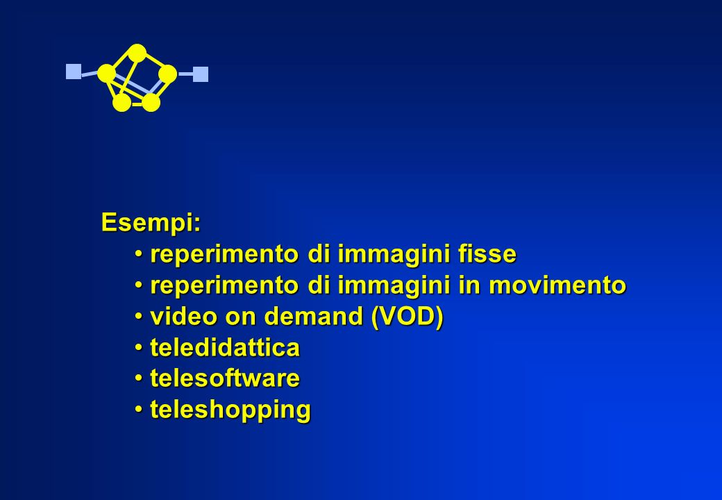 Esempi: reperimento di immagini fisse reperimento di immagini fisse reperimento di immagini in movimento reperimento di immagini in movimento video on