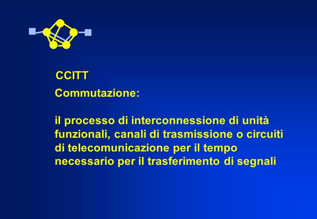 Commutazione: il processo di interconnessione di unità funzionali, canali di trasmissione o circuiti di telecomunicazione per il tempo necessario per
