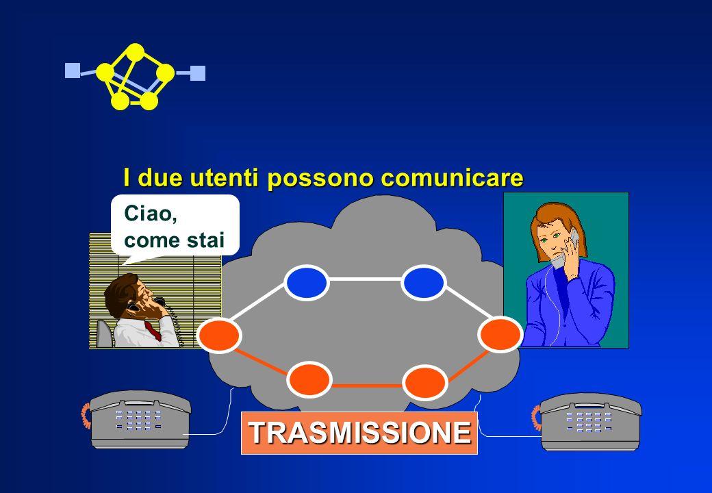 I due utenti possono comunicare Ciao, come stai TRASMISSIONE